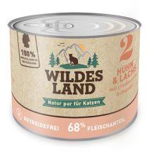 Wildes Land - Nassfutter - Huhn und Lachs mit Cranberries und Distelöl 6 x 200g (getreidefrei)