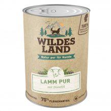 Wildes Land - Nassfutter - Lamm PUR mit Distelöl 400g (getreidefrei)