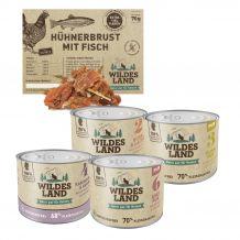 Wildes Land - Nassfutter - Premium Paket mit 24 x 200g + Snack 70g