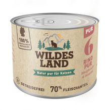 Wildes Land - Nassfutter - Rind PUR mit Distelöl 200g (getreidefrei)