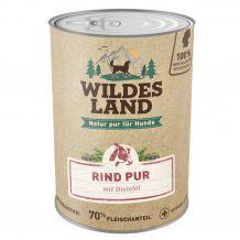 Wildes Land - Nassfutter - Rind PUR mit Distelöl (getreidefrei) 400g