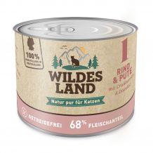 Wildes Land - Nassfutter - Rind und Pute mit Distelöl 200g