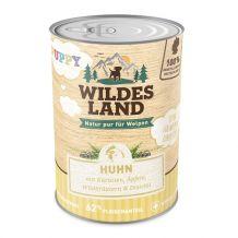 Wildes Land - Nassfutter - Puppy Huhn mit Karotte, Apfel und Wildkräutern 6 x 400g (getreidefrei)