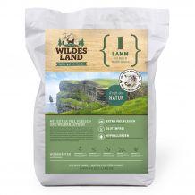 Wildes Land - Trockenfutter - Lamm mit Reis und Wildkräutern Futterprobe 70g (glutenfrei)