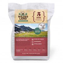 Wildes Land - Trockenfutter - Rind mit Kartoffeln und Wildkräutern Futterprobe 70g (getreidefrei)
