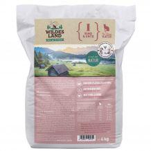 Wildes Land - Trockenfutter - Rind und Ente 4kg (getreidefrei)