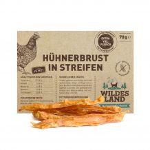 Wildes Land - Kausnack - Hühnerbrust in Streifen (getreidefrei) 70g