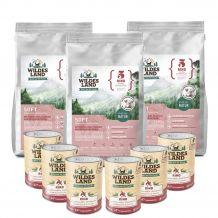 Wildes Land - Trockenfutter - Premium Paket Rind Soft 3 x 5kg + Nassfutter 6 x 400g