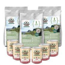 Wildes Land - Trockenfutter - Premium Paket Lamm Soft 3 x 5kg + Nassfutter 6 x 400g