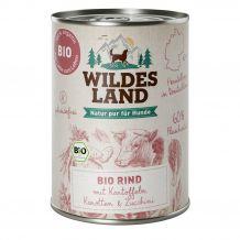 Wildes Land - Nassfutter - Bio Rind mit Kartoffeln 6 x 400g
