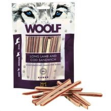 Woolf - Hundesnacks - Lamm & Dorsch Sandwichstreifen (getreidefrei)