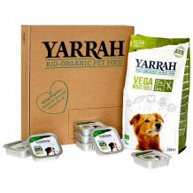 Yarrah - Hundefutter - Probierpaket Trockenfutter Bio Vega Wheat Free 2kg + Nassfutter Bio Bröckchen Vega 7 x 150g