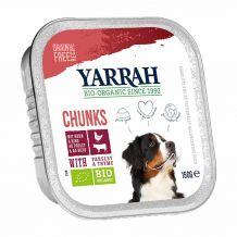 Yarrah - Nassfutter - Bio Bröckchen mit Huhn, Rind, Petersilie & Thymiann 150g