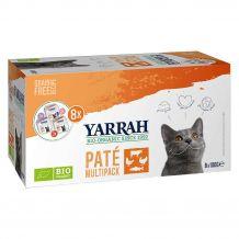 Yarrah - Nassfutter - Bio Paté Multipack Katzenfutter 800g