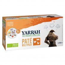 Yarrah - Nassfutter - Bio Paté Multipack für Hunde 6 x 150g