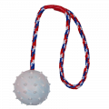 Ball am Seil, Naturgummi mit Handschlaufe