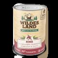 Wildes Land - Nassfutter - Rind mit Süßkartoffeln, Heidelbeeren, Wildkräutern und Distelöl 400g (getreidefrei)
