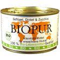 BIOPUR - Nassfutter - Geflügel, Dinkel & Zucchini 12 x 400g