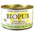 BIOPUR - Nassfutter - Geflügel, Nudeln & Karotten 12 x 400g