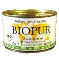 BIOPUR - Nassfutter - Geflügel, Reis & Karotten 12 x 400g
