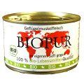 BIOPUR - Nassfutter - Geflügelmuskelfleisch 12 x 400g