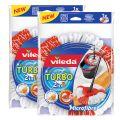 Vileda - Zubehör - Der Turbo 2in1 EasyWring & Clean Ersatzkopf Doppelpack  Der Turbo 2in1 EasyWring & Clean Ersatzkopf ist passend zum EasyWring Clean-Set und Turbo Wischmop-Set. Dank der dreieckigen Form des Wischkopfs von Vileda kann bequem jede Ecke er