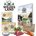 Wildes Land - Hundefutter - TV Probe Paket mit 1kg Trockenfutter + 2 x 400g Nassfutter + Snack 70g + Broschüre