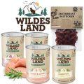 Wildes Land - Nassfutter - Premium Paket mit 24 x 400g + Snack 70g (getreidefrei)