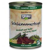 grau - Nassfutter - Schlemmertopf Wild, Gemüse und Nudeln