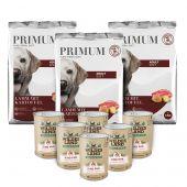 Primum - Trockenfutter - Premium Paket Soft Lamm mit Kartoffel 3 x 5kg + Nassfutter 6 x 400g