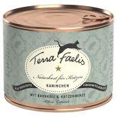 Terra Faelis - Nassfutter - Kaninchen mit Broccoli und Katzenminze (getreidefrei)