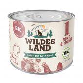 Wildes Land - Nassfutter - Bio Rind und Huhn (getreidefrei)
