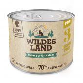 Wildes Land - Nassfutter - Huhn PUR mit Distelöl (getreidefrei)