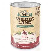 Wildes Land - Nassfutter - Rind mit Süßkartoffeln, Heidelbeeren, Wildkräutern und Distelöl (getreidefrei)