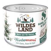 Wildes Land - Nassfutter - Wintermenü mit Gans, Pute und Ente (getreidefrei)