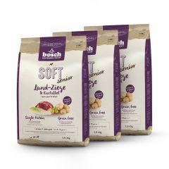Bosch - Trockenfutter - Vorteilspaket Soft Senior Land-Ziege und Kartoffel 3 x 2,5kg