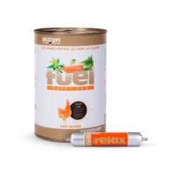 Fleischeslust - Nassfutter - Vorteilspaket Fuel Nassfutter 6 x 410g + Hundesnack 11 x 80g