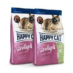 Happy Cat - Trockenfutter - Probe: 2 x 300g Happy Cat Sterilised Weide-Lamm Trockenfutter