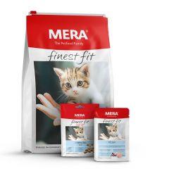 Mera - Katzenfutter - Premium Paket Finest Fit Kitten Trockenfutter 10kg + Nassfutter 12 x 85g + Snack 9 x 80g