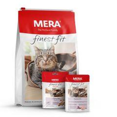 Mera - Katzenfutter - Premium Paket Finest Fit Senior Trockenfutter 4kg + Nassfutter 12 x 85g + Snack 9 x 80g