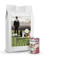 daily choice - Trockenfutter - Premium Paket Grainfree 15kg + Nassfutter 12 x 400g