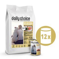 daily choice - Trockenfutter - Premium Paket Trockenfutter 15kg + Nassfutter 12 x 400g