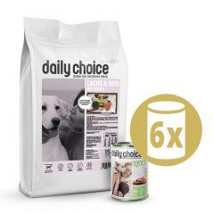 daily choice - Trockenfutter - Premium Paket Trockenfutter 15kg + Nassfutter 6 x 400g