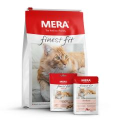 Mera - Katzenfutter - Premium Paket Finest Fit Sterilized Trockenfutter 10kg + Nassfutter 12 x 85g + Snack 9 x 80g