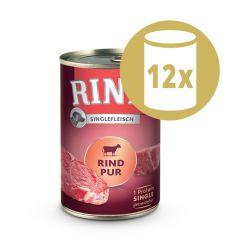 Rinti - Nassfutter - Vorteilspaket Singlefleisch 12 x 400g