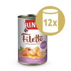 Rinti - Nassfutter - Vorteilspaket Filetto 12 x 420g