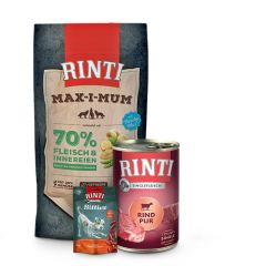 Rinti - Hundefutter - Max-i-Mum 4kg + Singlefleisch 6 x 400g + Bitties Snack 100g