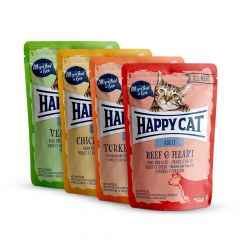Happy Cat - Nassfutter - All Meat Adult Mixpaket Pouches