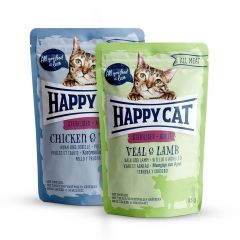 Happy Cat - Nassfutter - All Meat Adult Sterilised Mixpaket Pouches