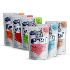 Happy Cat - Nassfutter - Meat in Sauce Adult Mixpaket Pouches